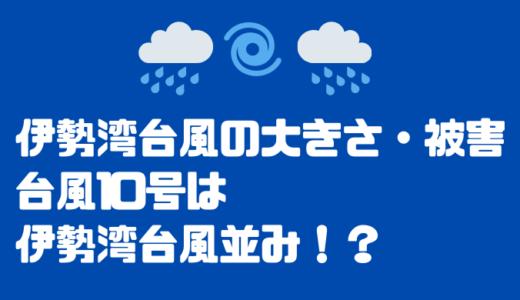 伊勢湾台風の大きさと被害とは?2020台風10号がそれに匹敵!?